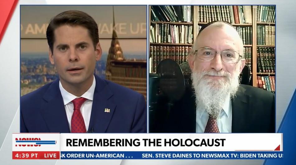 Newsmax: Rabbi Yaakov Menken Interview for International Holocaust Remembrance Day 2021