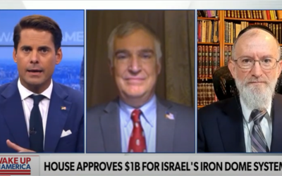 Rabbi Menken on Newsmax: House Approves $1B for Israel's Iron Dome System